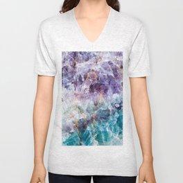 crystals  Unisex V-Neck