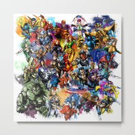Marvel MashUP Metal Print