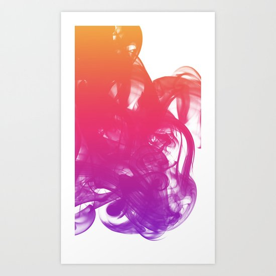 Ink & smoke Art Print