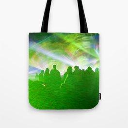Laser show crowd Tote Bag