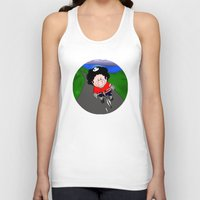 cycling Tank Tops featuring Cycling pig by Afro Pig
