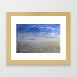 """1236-1 abstract beach"" Framed Art Print"