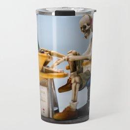 Dead at the Screen (Skeleton) Travel Mug