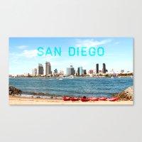 san diego Canvas Prints featuring San Diego  by Natasha Alexandra Englehardt