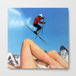 Skiing Time! Metal Print