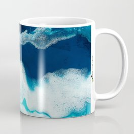 Tsambou, Samos beach, Greece, Resin abstract painting, Seascape art Coffee Mug