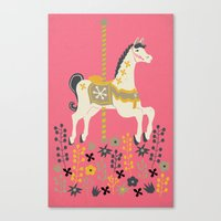 carousel Canvas Prints featuring Carousel by Prelude Posters