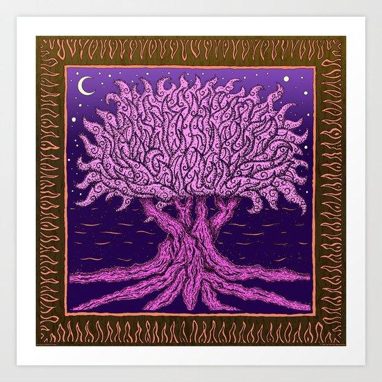 ombo pink tree of life Art Print