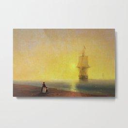 Morning at Sea by Ivan Aivazovsky Metal Print
