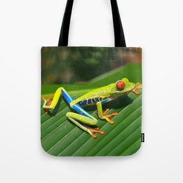 Green Tree Frog Red-Eyed Tote Bag