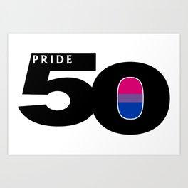 50 Pride Bisexual Pride Flag Art Print