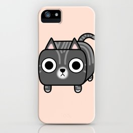 Cat Loaf - Grey Tabby Kitty iPhone Case
