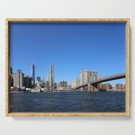 Manhattan Skyline with Bridges Serving Tray