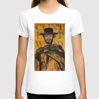 clint eastwood T-shirts featuring Clint Eastwood by Olga Ko