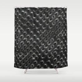 BLACK TUFT Shower Curtain