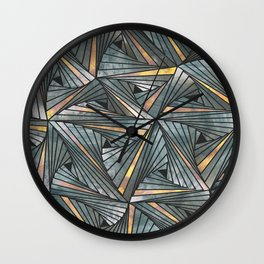 Mesh (Grey and Copper) Wall Clock