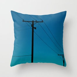 Telephone Lines Throw Pillow
