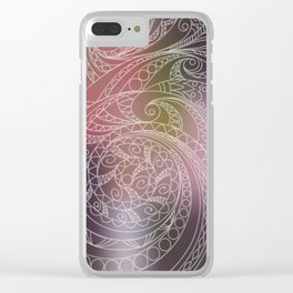transparent zen spiral pattern 1 on the gradient Clear iPhone Case