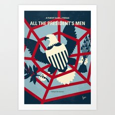 No678 My All the presidents Men minimal movie poster Art Print