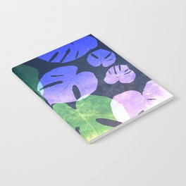 Tropical Nights-Monstera Deliciosa Leaves Notebook