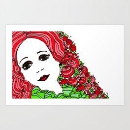 Lady Rouge Art Print
