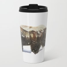 Arctic Grizzly Bear Metal Travel Mug