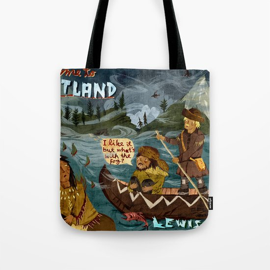 Postcard from Lewis + Clark Tote Bag