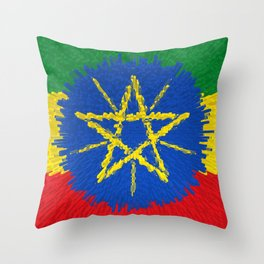 Flag of Ethiopia - Extruded Throw Pillow