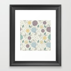 Decorative seamless pattern with stylish flowers and leaves Framed Art Print