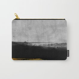 Black and Gold grunge stripes on modern grey concrete abstract backround I- Stripe- Striped Carry-All Pouch