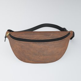 Old Tan Leather Print Texture | Cowhide Fanny Pack