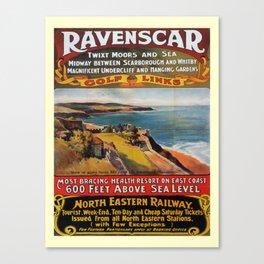 retro Ravenscar Canvas Print