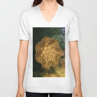 celtic V-neck T-shirts featuring Celtic Gold by Lynn Bolt