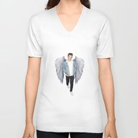 louis V-neck T-shirts featuring Louis by gutsngore