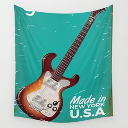 Vintage Guitar Commercial poster Wall Tapestry