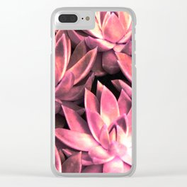 Bright Light Red Echeverias Clear iPhone Case