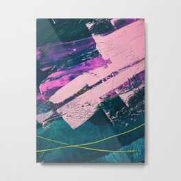 Wonder. - A vibrant minimal abstract piece in jewel tones by Alyssa Hamilton Art Metal Print