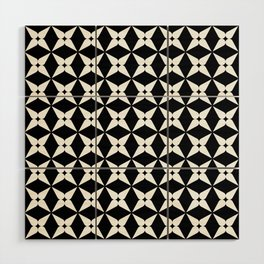Geometric Pattern 247 (white crosses) Wood Wall Art