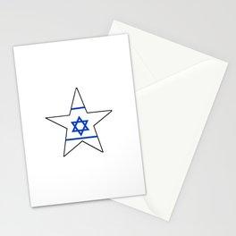flag of israel 10-יִשְׂרָאֵל ,israeli,Herzl,Jerusalem,Hebrew,Judaism,jew,David,Salomon. Stationery Cards