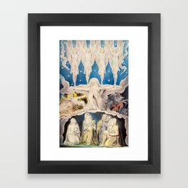 William Blake - When the Morning Stars Sang Together, 1804 Framed Art Print