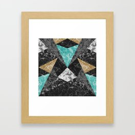 Marble Geometric Background G430 Framed Art Print
