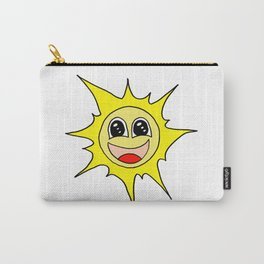 Drawn by hand a funny happy smiling sun for children and adults Carry-All Pouch