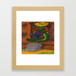 The Cajun Gator (Flat Color Version) by: Henry Wardsworth aka Concepts_By_Henry Framed Art Print