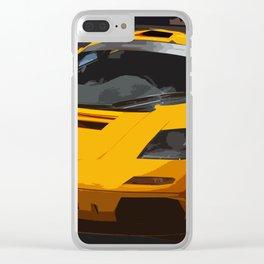 F 1 LM in Papaya Orange Clear iPhone Case
