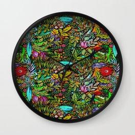 Colorful Bush Wall Clock