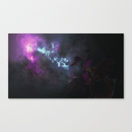Digital Nebula Canvas Print