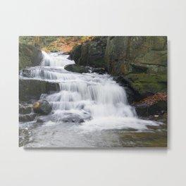 Lumsdale Waterfall Metal Print