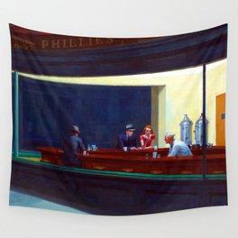 Edward Hopper Nighthawks Wall Tapestry