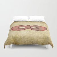 mask Duvet Covers featuring Mask by Bluishmuse