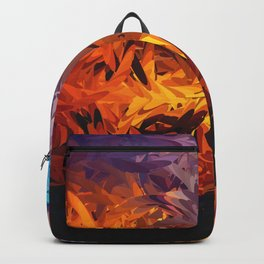 Decorative Abstract Sunset Design Backpack